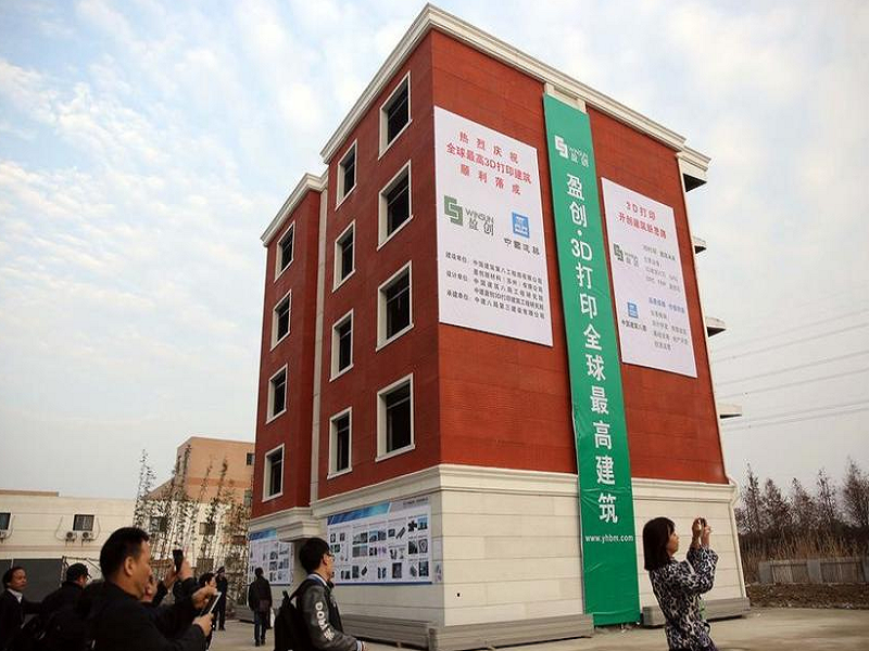 Chinese company builds 3D-printed apartment block
