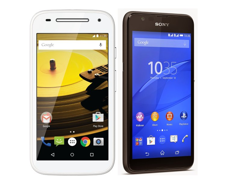 Motorola and Sony launch rival mid-range smartphones Moto E and Xperia E4g