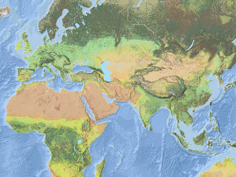 The coolest map ever, showing Earth's ecological make-up, has just been created