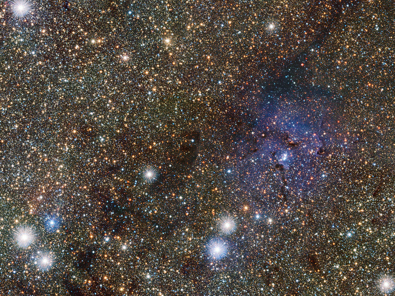 Snap-happy ESO captures Trifid Nebula, just beyond the Milky Way's 'central bulge'