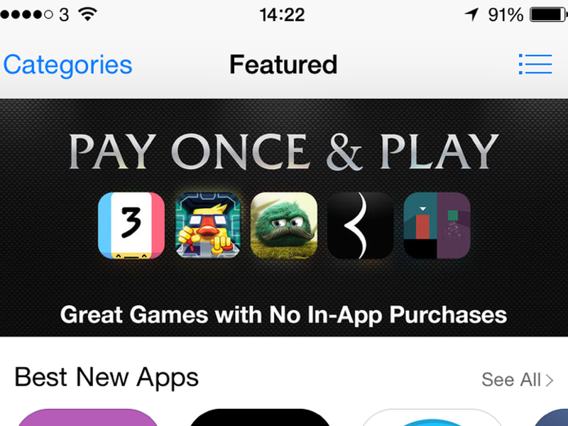 Apple's App Store revamp sees Pay Once games given priority