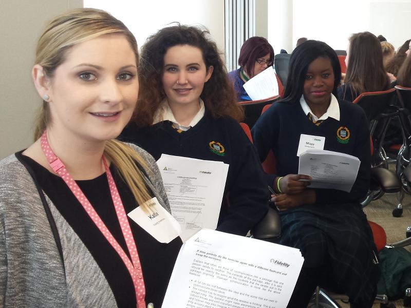 Schoolgirls get on board with International Women's Day
