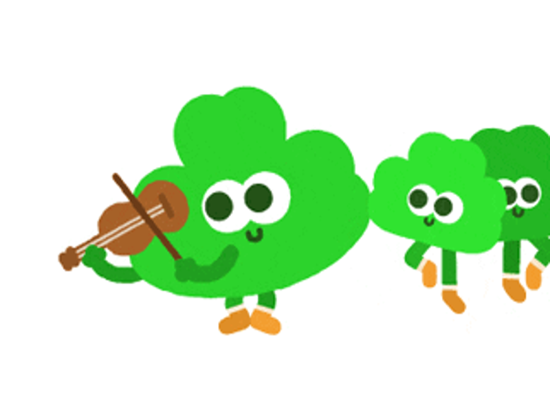 Google reveals dancing shamrocks in animated doodle designed by an Irishman