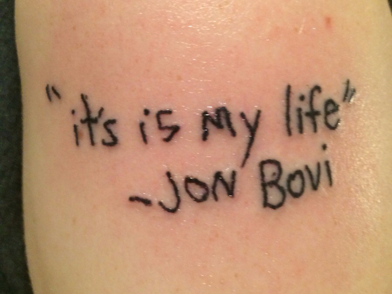 Gigglebit: Don't drink and listen to Bon Jovi