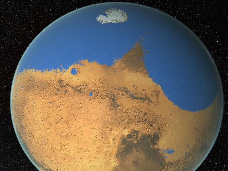 Mars may have once held as much as water as our own Arctic Ocean