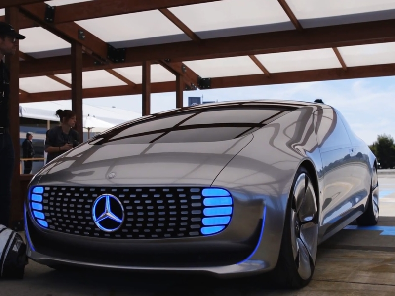Watch Mercedes-Benz test its new self-driving car