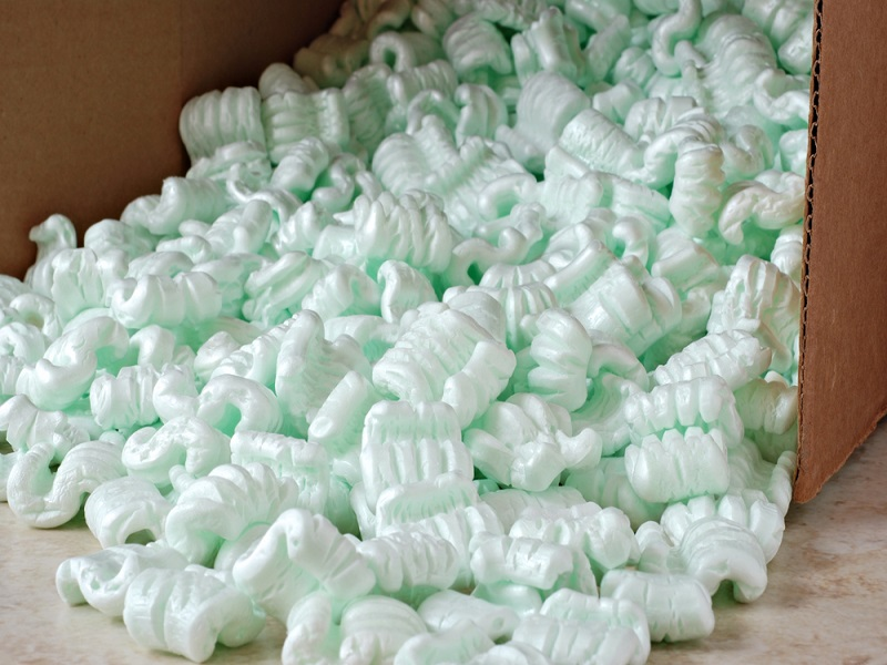 Nuts and volts: team develops way of converting packing peanuts into batteries