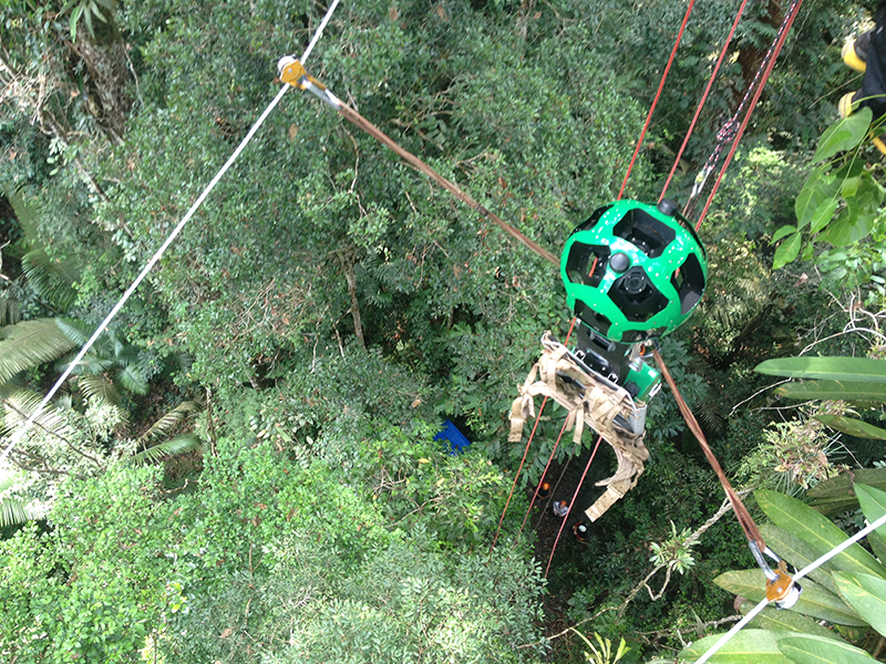 Google is using ziplines to bring Street View to the Amazon rainforest