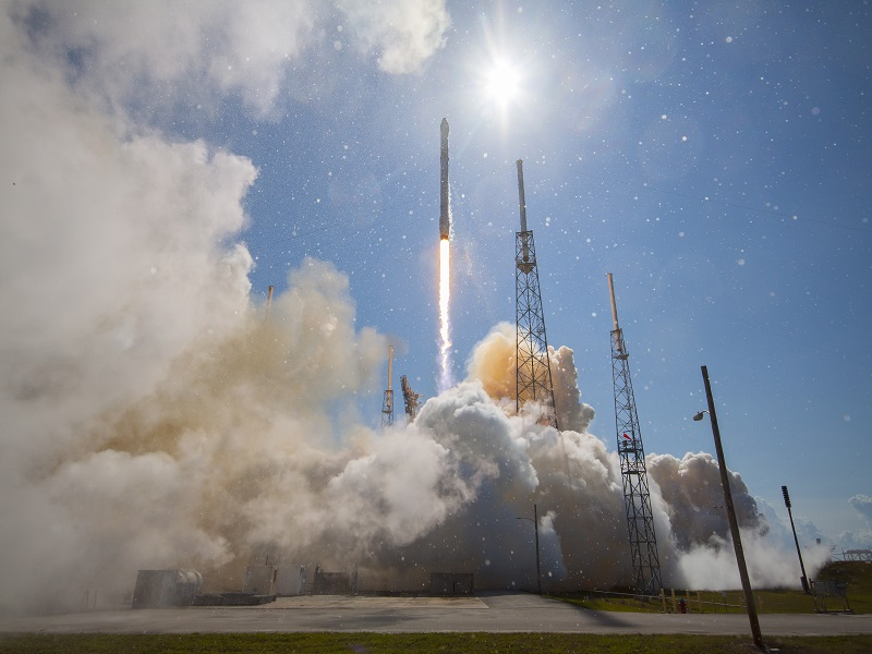 Falcon 9 rocket just about makes landing, but velocity lets it down