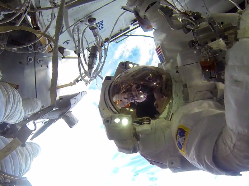 Sit back and watch GoPro footage of ISS astronauts during spacewalk