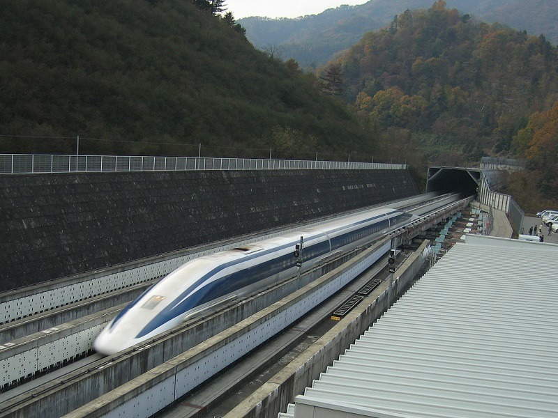 Japan's magnificent, magnetic levitating train breaks speed record at 603km/h