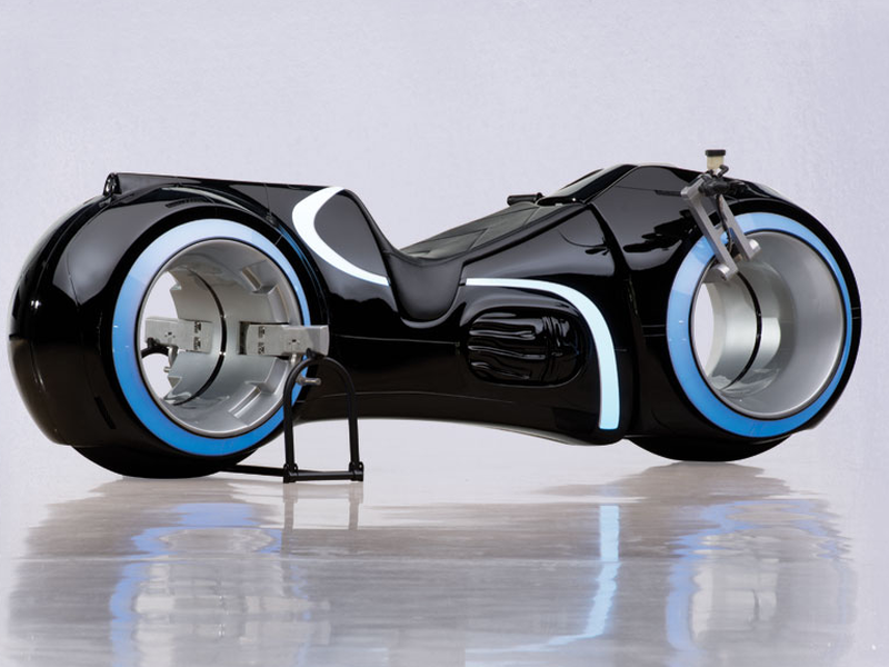 So TRON's motorcycle is for sale … and it looks tremendous