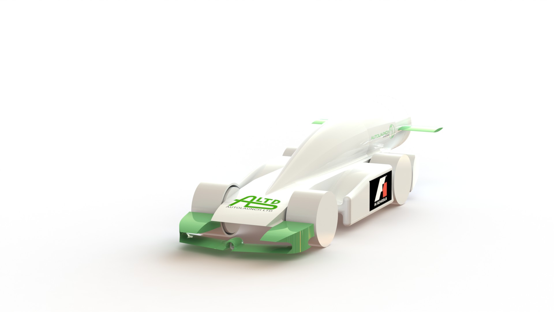 The design for Autolaunch Racing's 3D-printed car