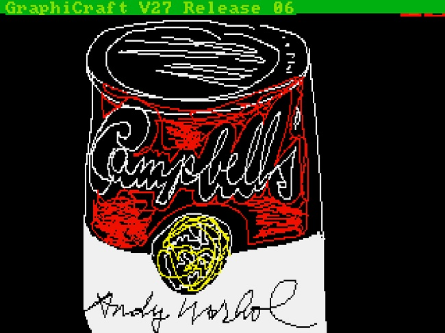 His infamous Campbell's Soup can re-worked
