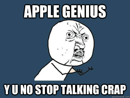Apple genius meme
