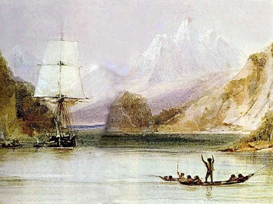 Painting of HMS Beagle