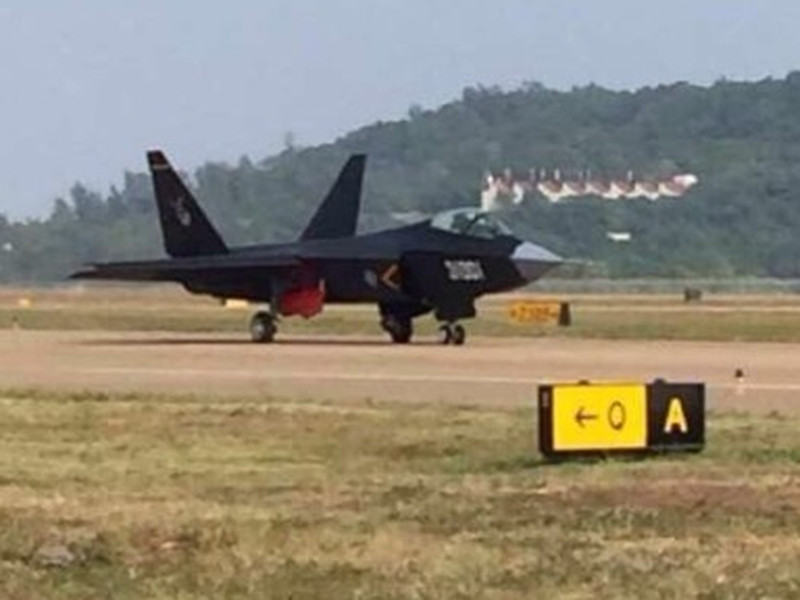 Alleged J-16 stealth jet