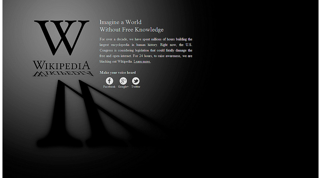 Wikipedia black-out