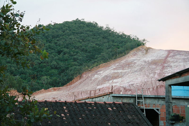 Deforestation of the Atlantic Forest in Rio de Janeiro, Brazil's capital city. This hill in this photo was apparently deforestated in order to use its clay in civil construction in Barra da Tijuca, a borough in Rio de Janeiro that is well known for its beaches. This image was taken in 2009. Credit: Wikimedia Commons