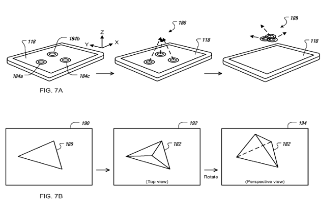 Apple 3D UI patent image