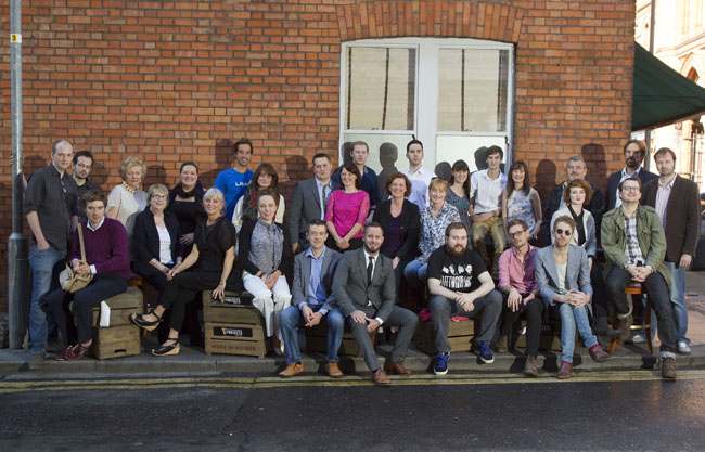 All of the winners in the 2013 Arthur Guinness Projects initiative. They were pictured on Fade Street, Dublin 2 this afternoon