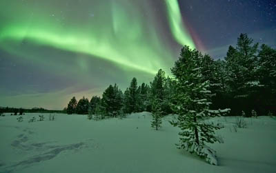 Aurora Borealis captured in Finland on 16 January 2012
