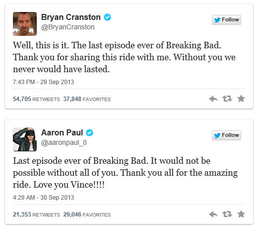 Breaking Bad tweets