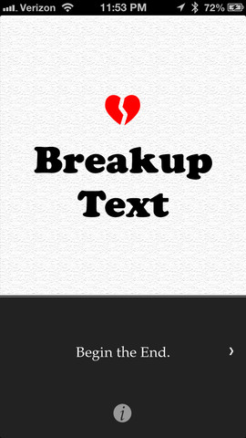 BreakupText app screenshot