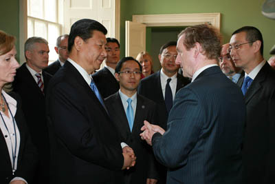 Pictured at this morning's Enterprise Ireland's China Trade and Investment Forum were China's Vice President Xi Jinping and Taoiseach Enda Kenny