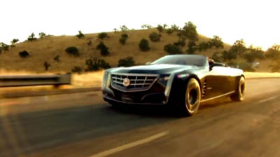 Cadillac Ciel Concept, which was first unveiled last August. Image courtesy of YouTube video (www.youtube.com/watch?v=CXCIkcxlWa8