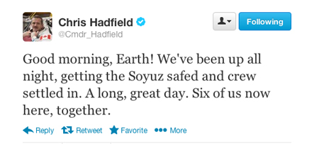 Chris Hadfield Twitter