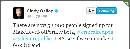 Cindy Gallop tweet