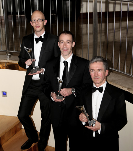 Dr Peter Lee, winner of the 2012 Clinical Innovation Award; orthopaedic surgeon Seamus Morris, runner-up; and consultant endocrinologist Dr Sean Dinneen, also a runner-up