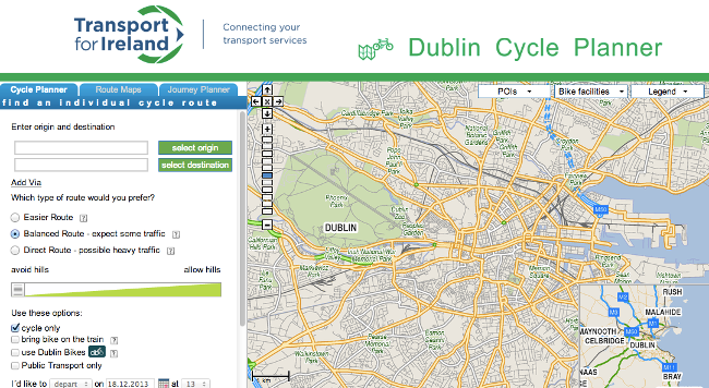 National Transport Authority Cycle Planner Dublin