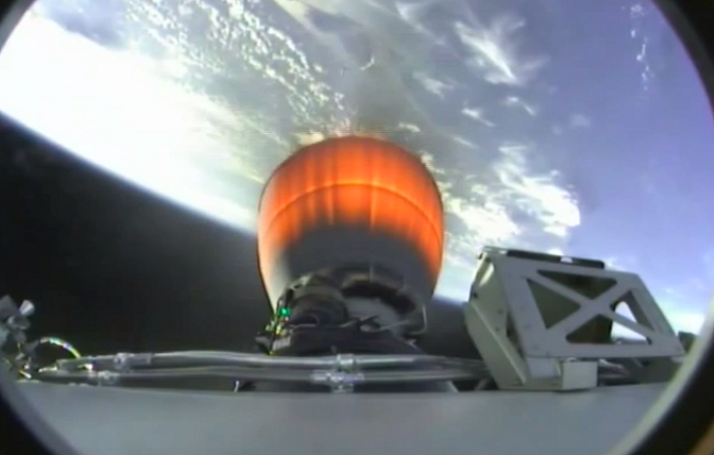 Dragon capsule reaching ISS