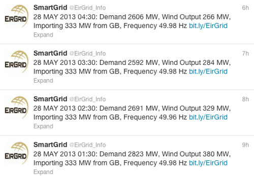 Eirgrid's new Twitter handle