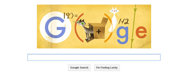Erwin Schrödinger's 130th birthday Google Doodle