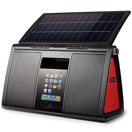 Eton solar powered portable speaker system
