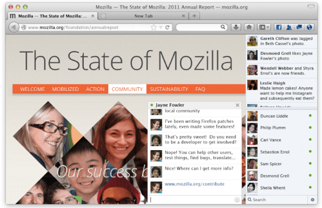 Facebook Messenger for Firefox 17.0