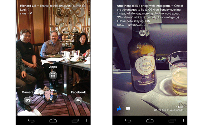 Facebook Home pre-release screenshots via Paul O'Brien/MoDaCo