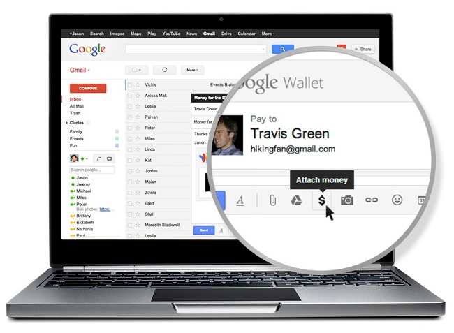Google Wallet integration with Gmail