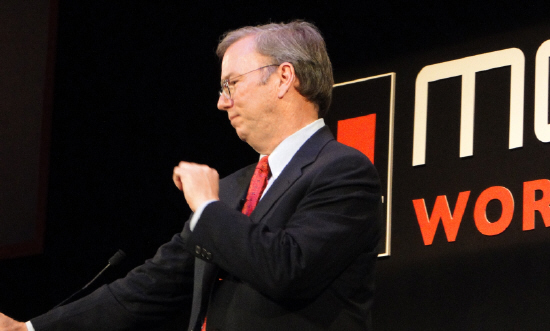 Google CEO Eric Schmidt at the Mobile World Congress