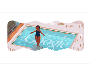 London 2012 Google Doodle diving
