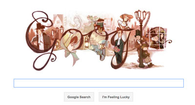 Google Doodle Charles Dickens 7 February 2012
