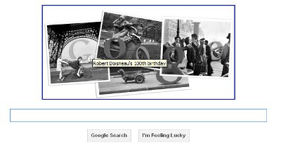Google Doodle Robert Doisneau 14 April 2012