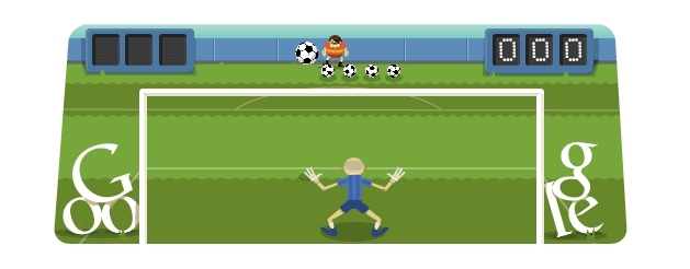 Google doodle - London 2012 football