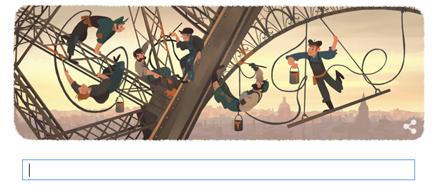 Today's Google Doodle honours the Eiffel Tower's opening to the public