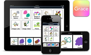 Grace app for people with autism as viewed on Apple iPad