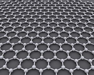 Resembling chicken wire,  graphene is a sheet of carbon atoms bound together with double electron bonds. Atoms in graphene are arranged in a honeycomb-style lattice pattern. Professor Andre Geim and Professor Konstantin Novoselov from The University of Manchester discovered graphene in 2004. They won the Nobel Prize for Physics in 2010 for their pioneering work. Image courtesy of  Wikimedia Commons