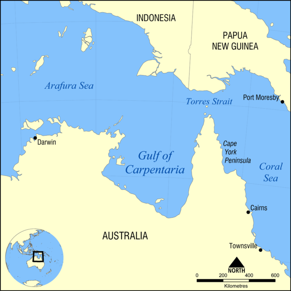 Gulf of Carpentaria map